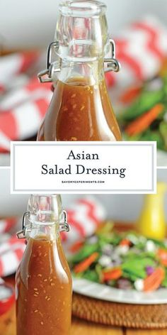 This Asian Salad Dressing is a great copycat recipe for what you get at Japanese steakhouses like Benihana or Kobe! Ginger Salad Dressing is a sweet ginger and sesame combination which can be used as a salad dressing or even a marinade! Sweet Salad Dressings, Salad Dressing Recipes, Asian Sesame Ginger Dressing Recipe, Chinese Chicken Salad Dressing, Japanese Sesame Salad Dressing, Sesame Seed Dressing, Ginger Asian, Japanese Salad, Vinaigrette Dressing