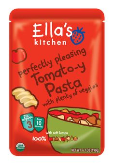 NEW! Pasta for toddlers made easy! 100% pasta with tomatoes and veggies – made from a mix of just organic food, perfectly balanced for toddlers and older babies.