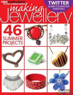 You won't want to miss the latest issue of Making Jewellery. There are lots of gorgeous projects including my wearable vessel inspired by Japanese Inro. Wire Wrapped Jewelry, Metal Jewelry, Magazine Crafts, Summer 2015, Cover Photos, Jewelry Crafts, Polymer Clay, Jewelry Making, Etsy Shop