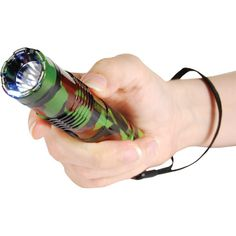 The CAMO BashLite 15,000,000 volt Stun Gun Flashlight has a sleek durable design. It is made from high quality aircraft grade aluminum. The BashLite will strike with 4.7 milliamps of stun power. The knockout punch of the stun gun will take an attacker down very quickly leaving them in pain and on the ground.