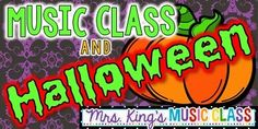 "Music Class and Halloween WOW!  A huge collection of songs, activities and movement ideas for October.  I love that not all of the ideas are blatantly ""Halloween"" and could be used all month long.  K-6 ideas."