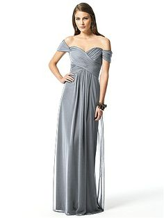 Dessy Collection Style 2844  #Gray #Bridesmaid #Dresses