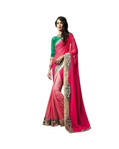 Pink Zari Work Saree  Check out all the details of this product here: http://www.ethnicstation.com/pink-zari-work-saree-vl1709    #ZariWorkSaree   #EthnicWear