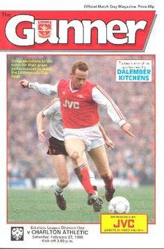 Arsenal v Charlton on my birthday, 1987 :)