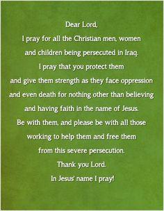 Prayer for christians in Iraq.