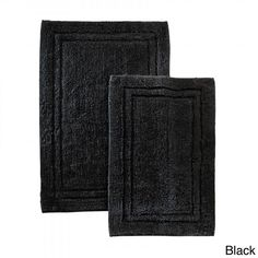 Bathroom Rug Set Bath Mats Cotton Piece Machine Wash Non Slip - Navy bath mat set for bathroom decorating ideas