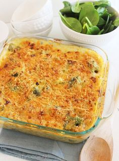 Skinny Baked Broccoli Macaroni and Cheese