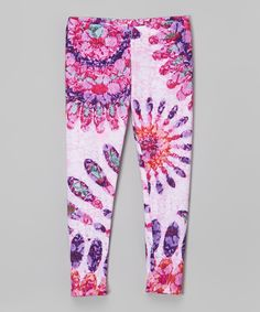 Look what I found on #zulily! Citi Life Kids Pink & Purple Kaleidoscope Gem Leggings - Infant, Toddler & Girls by Citi Life Kids #zulilyfinds