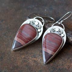 Resultado de imagem para silver cabochon earrings