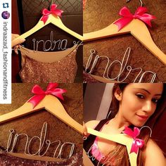 #Repost @indraazad_fashionandfitness with @repostapp.   Dis is soooo pretty got dis beautiful surprise from @omg_ohmygift  personalised  hanger wid bow and my name  Sumthin really diff n creative tysm Dahlin I really Luvd it  Friends follow this page n Chkout Her Crazzy stuff which u have never seen before  I def need Deez more In My wardrobe  n start ordering  #Blogged #Blogger #FashionBlogger #GoldenGal  by omg_ohmygift