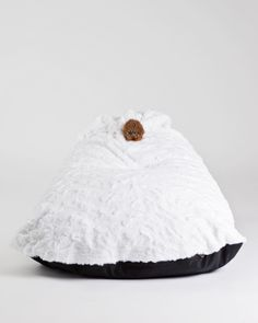 These stylish bean bag chairs are made with lush faux fur and a sweet little fur pom pom! Teepee Kids, Teepees, Toddler Table And Chairs, Kids C, Leather Dining Room Chairs, Bag Chairs, Fur Pom Pom, Kidsroom, Kids Decor