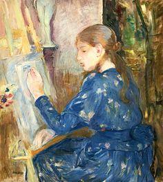 bofransson:    BERTHE MORISOT 1841 - 1895 Jeune Fille Écrivant