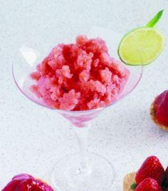Strawberry and Cointreau Granita