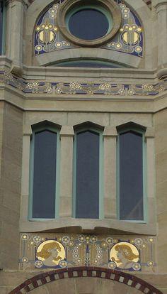 Paul Cauchie - Sgraffites sur la Façade de la Maison Delune à Bruxelles - 1904