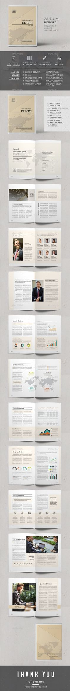 #Annual Report - #Corporate #Brochures Download here: https://graphicriver.net/item/annual-report/20336161?ref=alena994