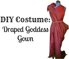A DIY costume idea is featured, with an easy step by step tutorial on how to make a no sew draped Grecian/Roman goddess gown.