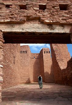 Quarai Ruins, Salinas Pueblo Missions National Monument, New Mexico by Gary Koutsoubis New Mexico Road Trip, Travel New Mexico, New Mexico Style, New Mexico Usa, Oh The Places You'll Go, Places To Travel, Places To Visit, Monuments, New Mexican