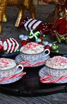 The ultimate winter comfort drink is here! Serve your guests steaming cups of holiday happiness with... - The Hopeless Housewife
