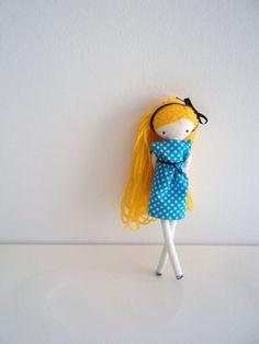 Pipi muñeca de tela tamaño bolsillo muñeca de por lassandaliasdeana