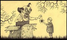 John Kenn Mortensen, who goes by the name Don Kenn, is a Danish artist who draws disturbing monster pictures using only sticky notes as his canvas. Arte Horror, Horror Art, Creepy Art, Scary, Creepy Drawings, Weird Art, Art Post-it, Illustrations, Illustration Art