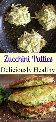 Zucchini Patties a delicious healthy easy recipe the perfect side dish appetizer or even main dish a yummy way to add some veggies/anitalianinmykitchen Veggie Side Dishes, Healthy Side Dishes, Side Dish Recipes, Vegetable Recipes, Food Dishes, Healthy Snacks, Vegetarian Recipes, Healthy Eating, Cooking Recipes