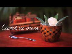Creamy coconut ice cream, oh so easy to make and a tropically delicious alternative to vanilla
