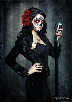 Dia de los Muertos / Sugar Skull Halloween Make Up Idea Happy Halloween, Fete Halloween, Halloween Looks, Halloween Costumes, Halloween 2019, Sugar Skull Girl, Sugar Skull Makeup, Sugar Skulls, Day Of The Dead Art