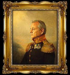 bill murray :: celebs as russian generals :) HAHA!