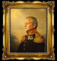 bill murray :: celebs as russian generals :) HAHA!