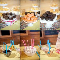 Cupcake Bar (build your own) -- various cake flavors, frostings and toppings.