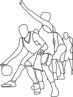 Basketball Coloring Pages 1