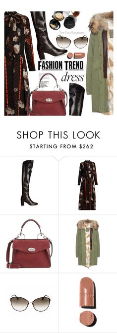 """""""Party On: Long Sleeve Dresses"""" by smartbuyglasses-uk ❤ liked on Polyvore featuring Yves Saint Laurent, Preen, Elizabeth Arden, Proenza Schouler, Mr & Mrs Italy, Tom Ford and longsleeve"""
