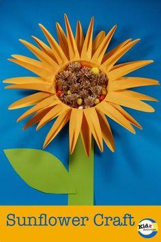 Sunflower Craft for Preschoolers - Kidz Activities