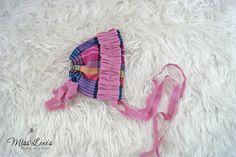 OOAK Newborn Bonnet, Vintage Inspired Baby Ruffle Bonnet, Baby Girl Bonnet, Newborn Baby Girl Photo Props, Newborn Photography Prop