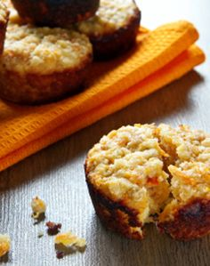 oat/carrot muffins. I'd sub flour for whole wheat flour and buttermilk with soy milk for a slightly healthier version