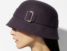 DIY Vintage-Inspired Wool Felt 1920s-30s Belted Cloche Hat w/ Buckle