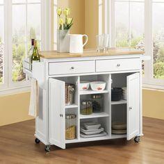 Maryland Wood Top Kitchen Cart - $229