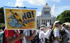 Mass protest in Japan against US hybrid aircraft