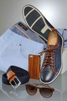 Jon Sonen blue outfit. Menswear