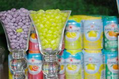 Cute drink selections by Amphora Catering!