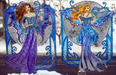 WICOART WINDOW COLOR STICKER STATIC CLING STAINED GLASS LOT 2 FEES LUNE HIVER