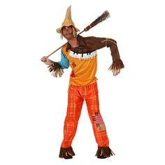 Vogelverschrikker kostuum. Dit opvallende vogelverschrikker kostuum herkent u waarschijnlijk uit de Wizward of Oz. Het kostuum bestaat uit de broek en het shirt.