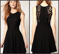 New Fashion Hepburn Classic Slim Little black dress Lace Noble Sleeveless Dress #Unbranded #Lace #LittleBlackDress