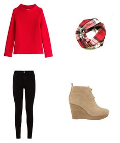 """""""Warm & Super Cute Winter Outfit"""" by olivia-e-van ❤ liked on Polyvore featuring 7 For All Mankind, MICHAEL Michael Kors and Courrèges"""
