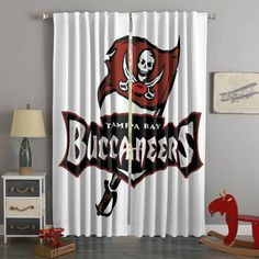3D Printed Tampa Bay Buccaneers Style Custom Living Room Curtains – Westbedding