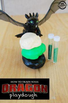 how to train a dragon playdough