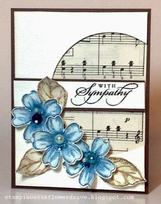 sympathy cards \ sympathy cards - sympathy cards handmade - sympathy cards what to write in - sympathy cards sayings - sympathy cards handmade simple - sympathy cards condolences - sympathy cards stampin up ideas - sympathy cards handmade messages Musical Cards, Embossed Cards, Stamping Up Cards, Get Well Cards, Card Sketches, Paper Cards, Flower Cards, Creative Cards, Greeting Cards Handmade