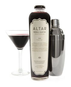 ALTAR is a premium all natural adult sophisticated non-alcoholic beverage (aka- Herbal Martini) meant to be served alone as a ready to drink or paired with fine spirits as a good for you low calorie martini.
