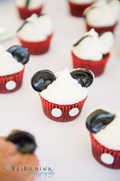 Mickey Mouse Clubhouse Cupcake ideas! Party via Kara's Party Ideas | KarasPartyIdeas.com #mickey #mouse #clubhouse #party #ideas #supplies