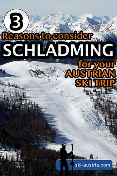 Schladming is an underrated ski resort covering four mountains in the southern Austrian province of Styria. Austrian Ski Resorts, Ski Austria, Best Ski Resorts, Ski Racing, Travel Companies, Top Hotels, Top Of The World, Alps, Skiing